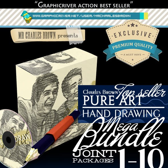 All Charles Brown's Pure Art Hand Drawing Bundle
