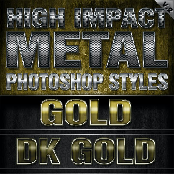 High Impact Metal Photoshop Styles-V2