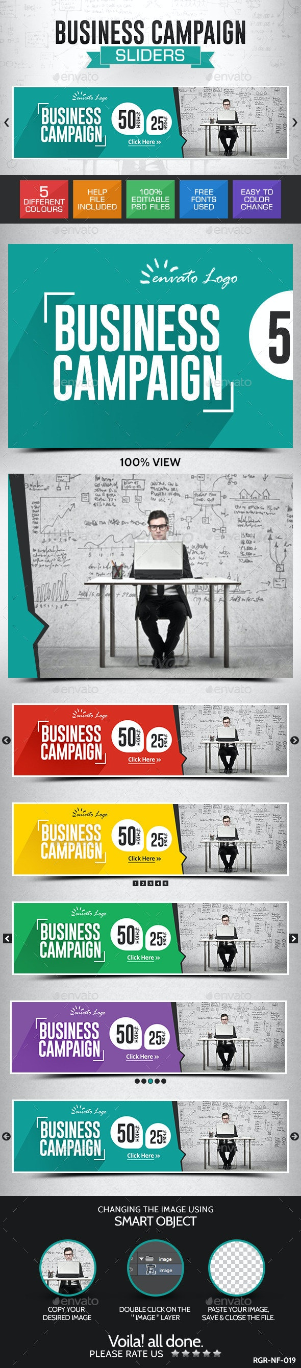 Business Slider Banners - Sliders & Features Web Elements