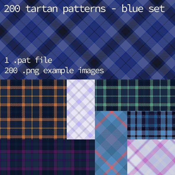 Tartan Pattern Collection - Blue set