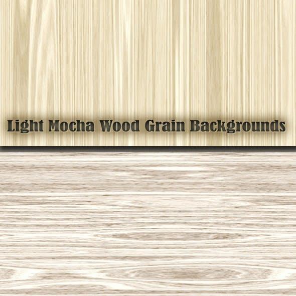 Light Mocha Wood Grain Patterns
