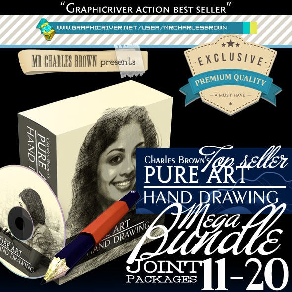 All Charles Brown's Pure Art Hand Drawing Bundle 2