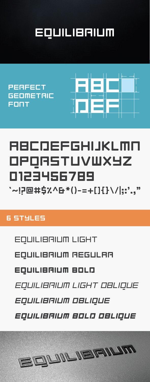 Equilibrium Font - Futuristic Decorative