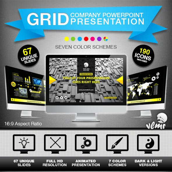 Grid Company PowerPoint Presentation Template