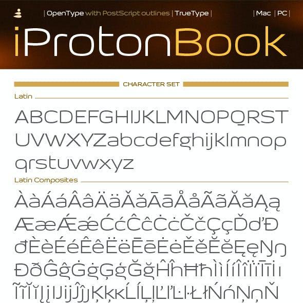 iProton Book Font