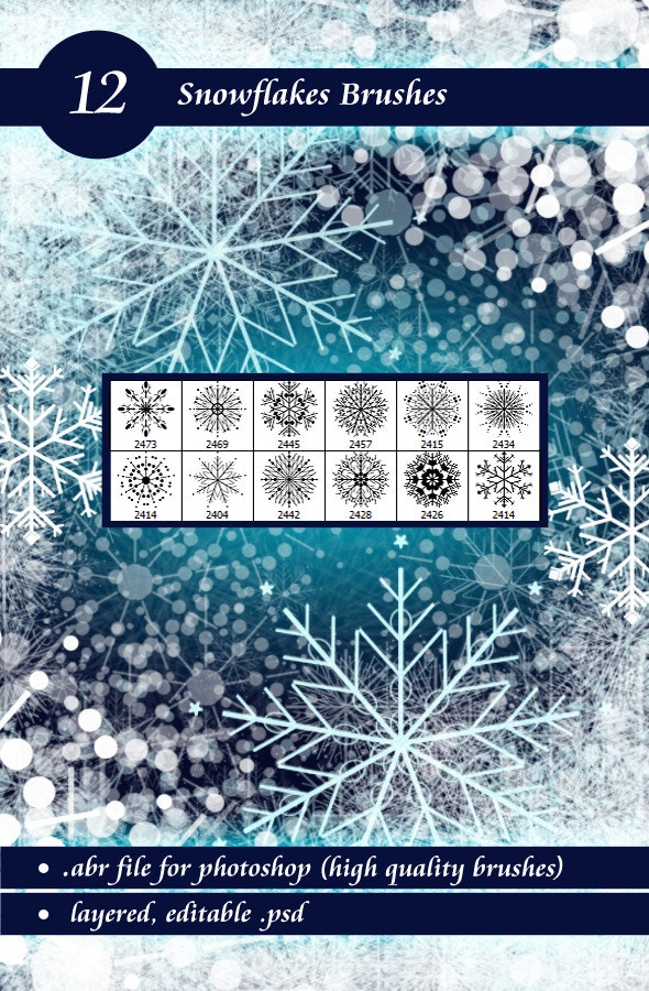 Snowflakes Brushes - Photoshop Add-ons