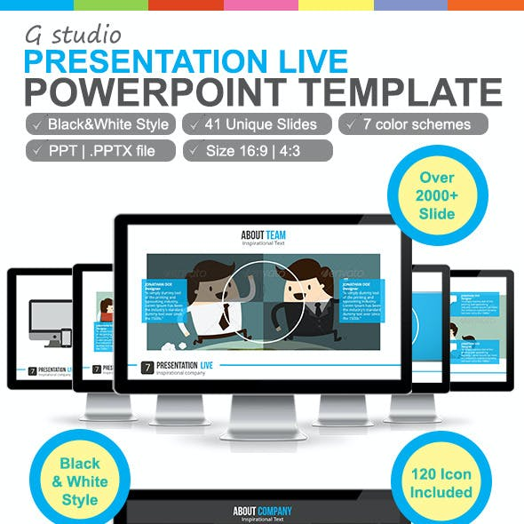 Lively Blue Presentation Templates From Graphicriver