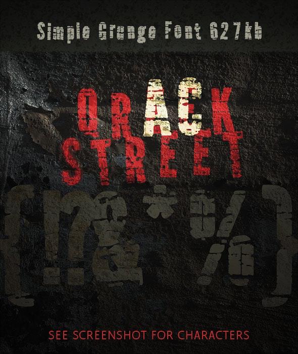 Grungy Cracked Type: QrackStreet