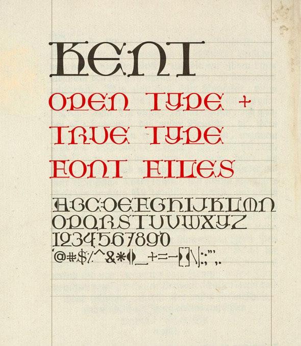 Kent - Fonts