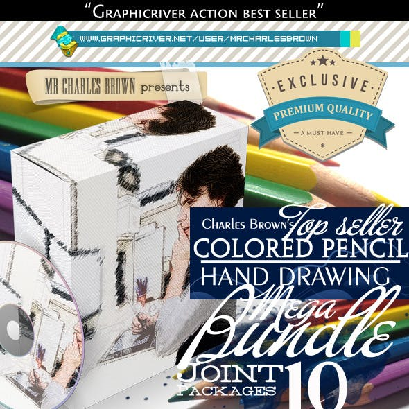 All Charles Brown's Colored Pencil Drawing Bundle