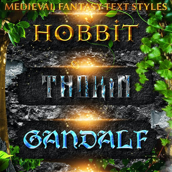 Medieval Fantasy Text Styles