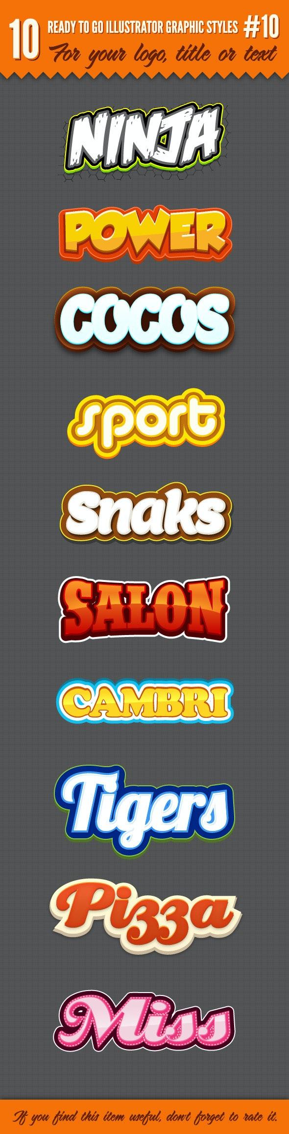 10 Logo Graphic Styles #10 - Styles Illustrator