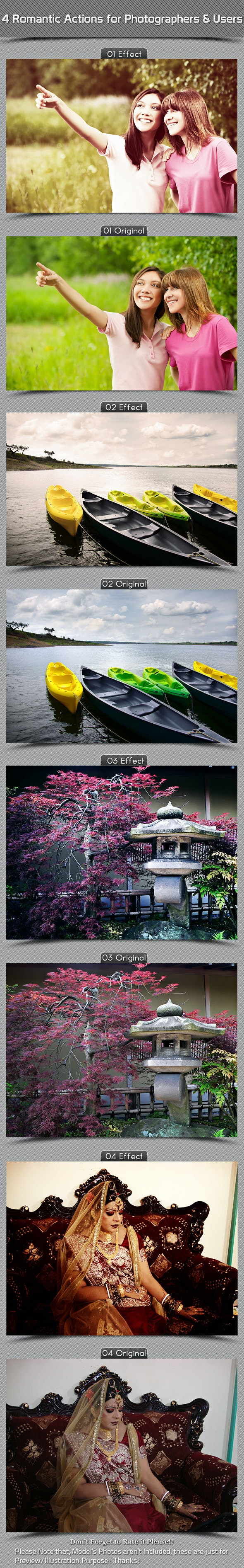 4 Romantic Actions For Photographers And Users - Actions Photoshop