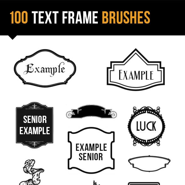 100 Text Frame Brushes