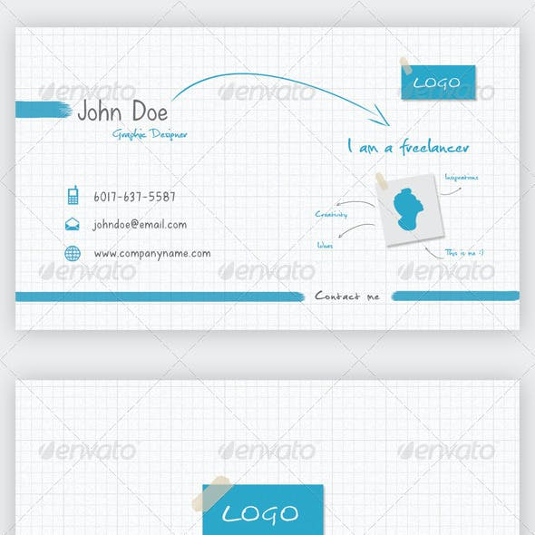 I'm Freelancer Business Card