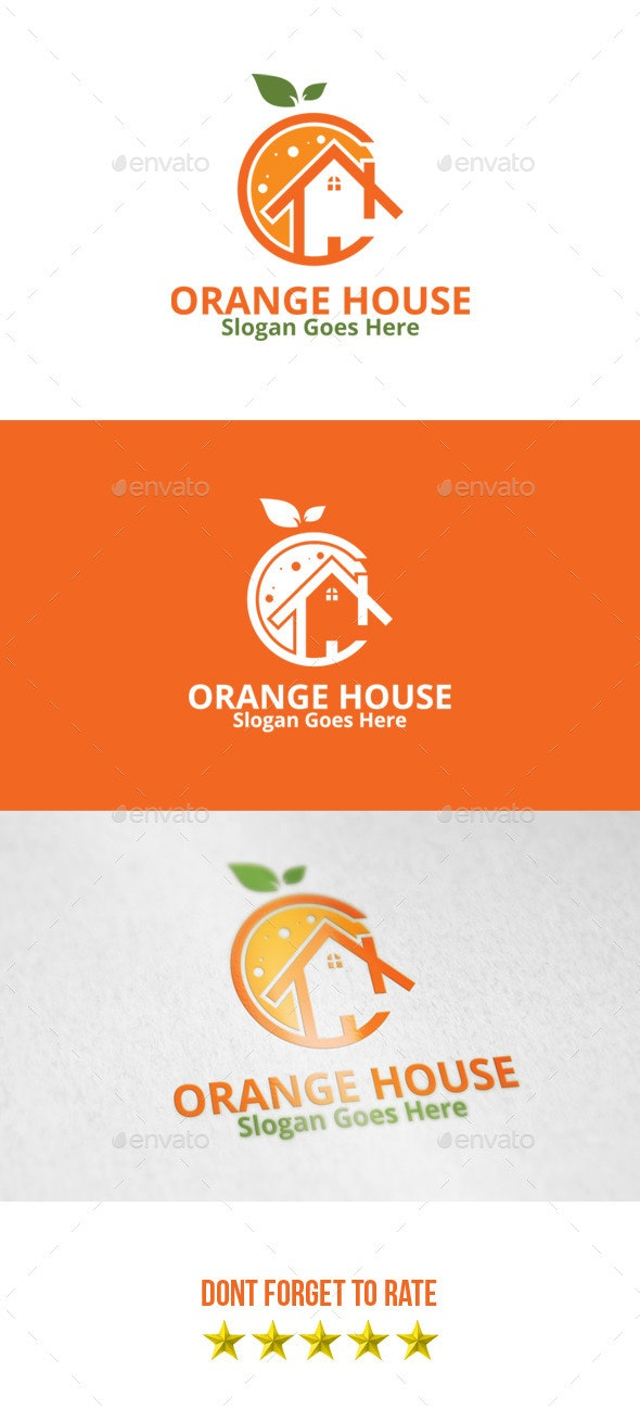 Orange House Logo - Buildings Logo Templates