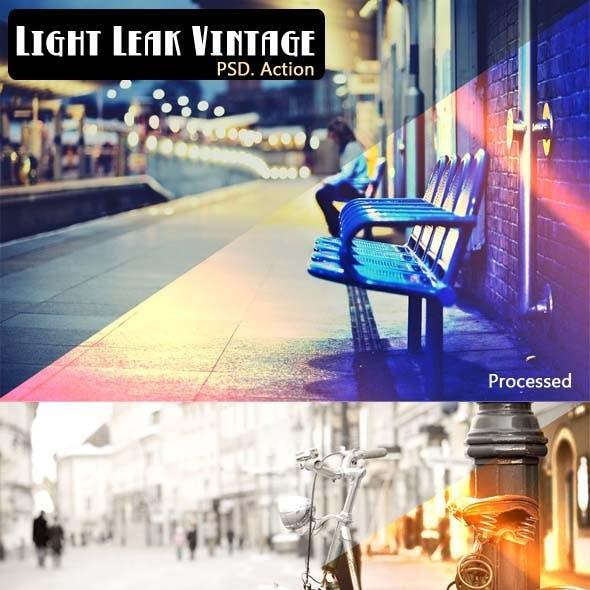 Light Leak Vintage Psd. Action