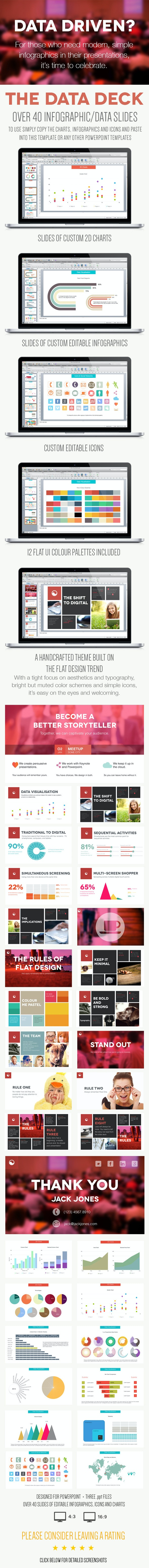 The Data Deck - A Powerpoint Infographics Template - PowerPoint Templates Presentation Templates