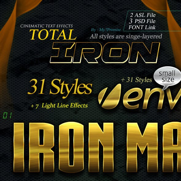 31 Total Iron Text Effects