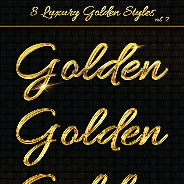8 Luxury Golden Text Styles vol2