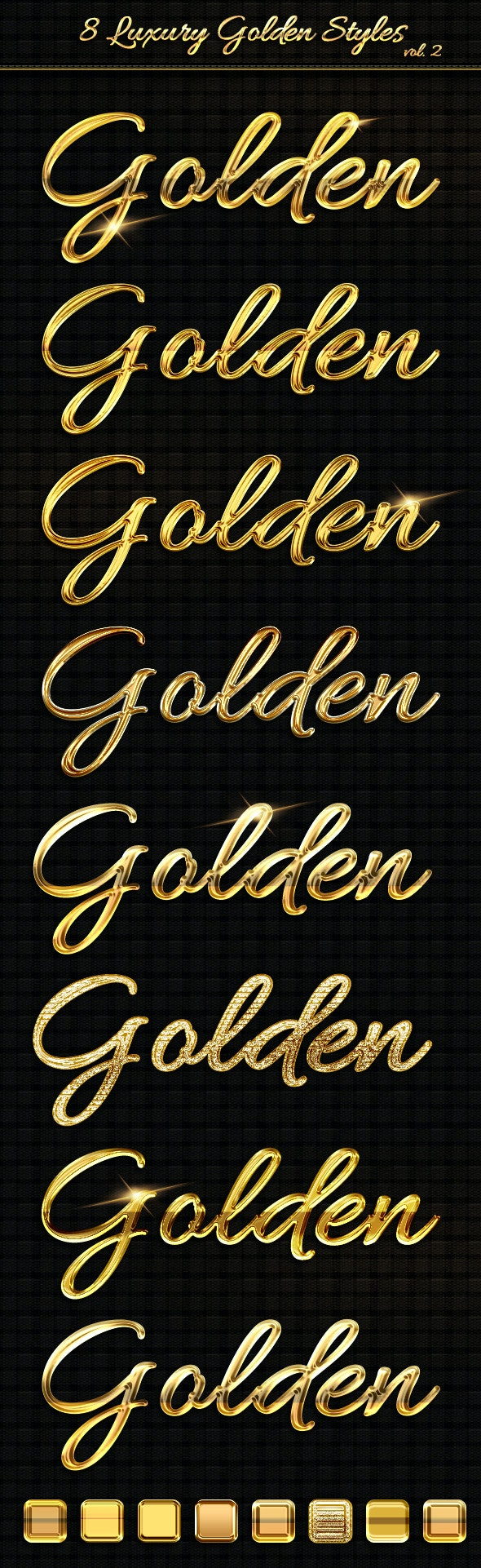 8 Luxury Golden Text Styles vol2 - Text Effects Styles