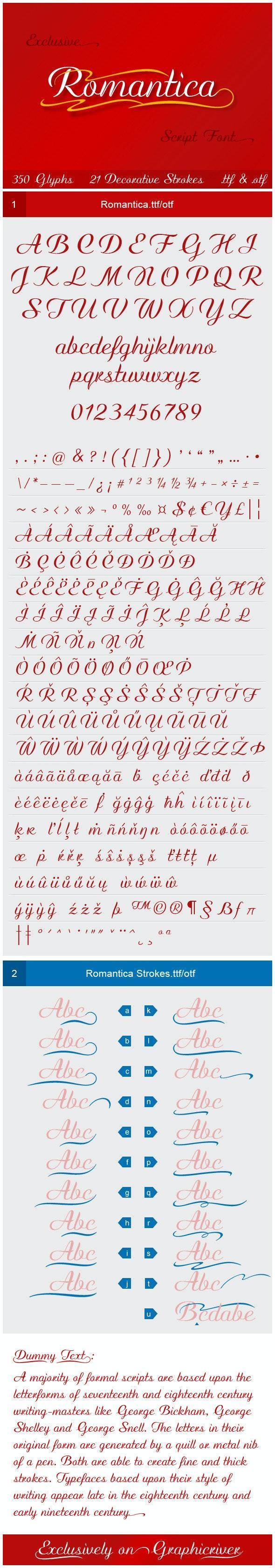 Romantica - Calligraphy Script