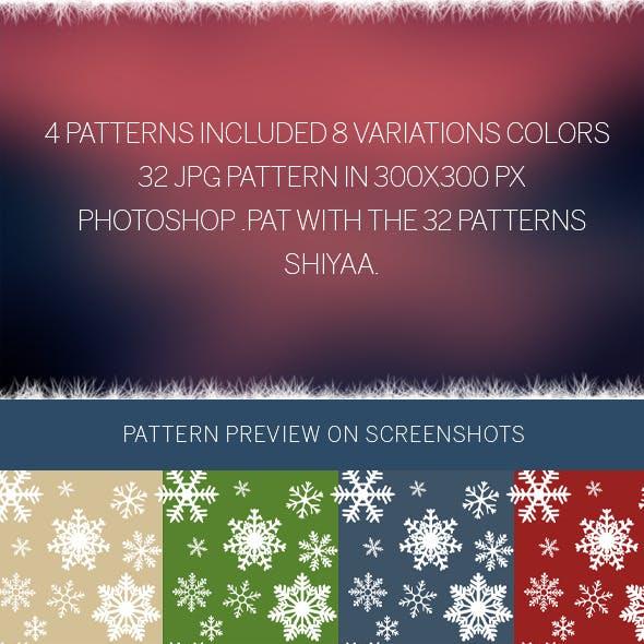 Snowflakes # Pattern