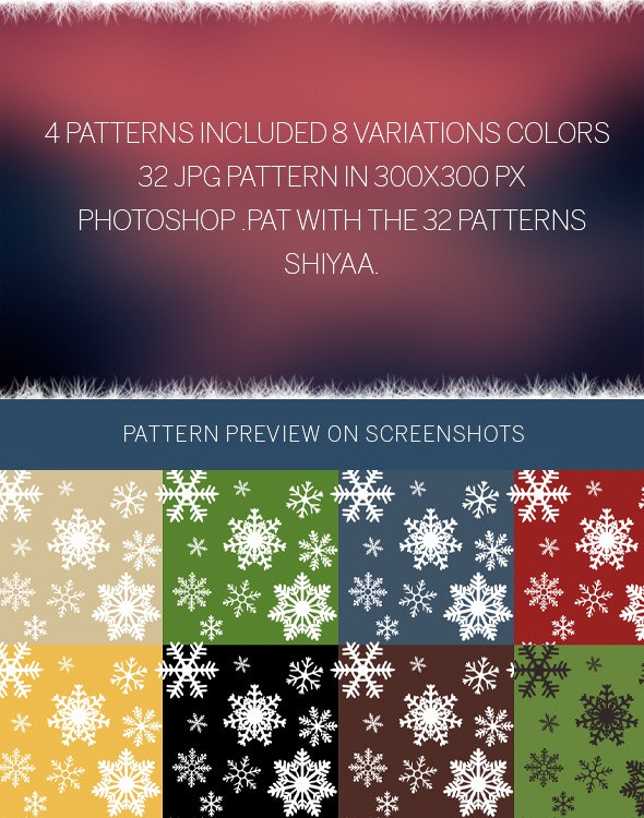 Snowflakes # Pattern - Nature Textures / Fills / Patterns