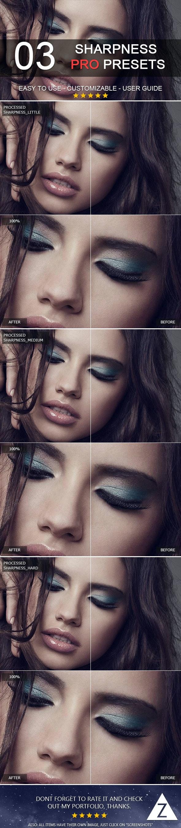 3 Pro Sharpness Presets - Portrait Lightroom Presets