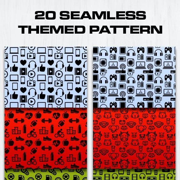 20 Seamless Themed Pattern