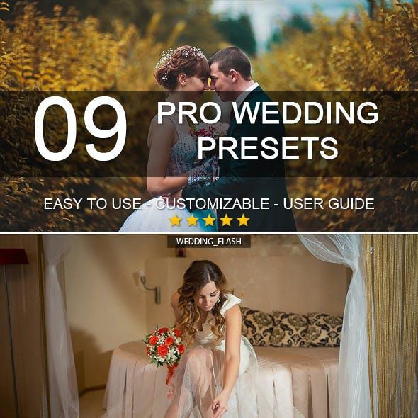 9 Pro Wedding Presets