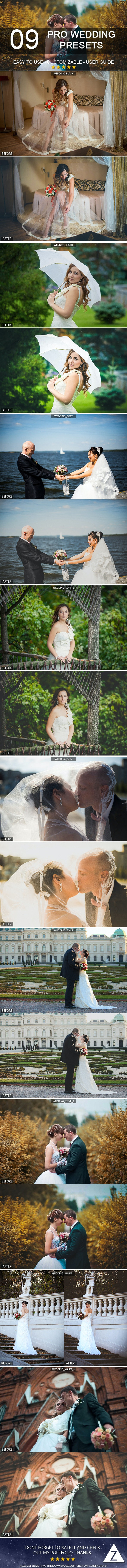9 Pro Wedding Presets - Wedding Lightroom Presets