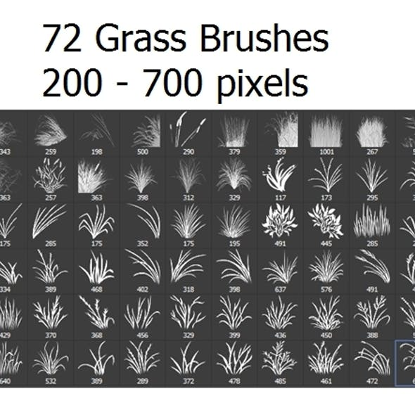 72 Photoshop Grass Brushes