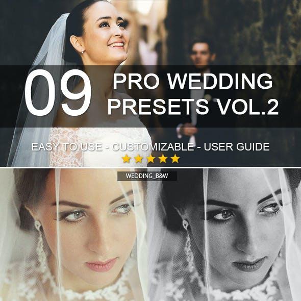 9 Pro Wedding Presets vol.2