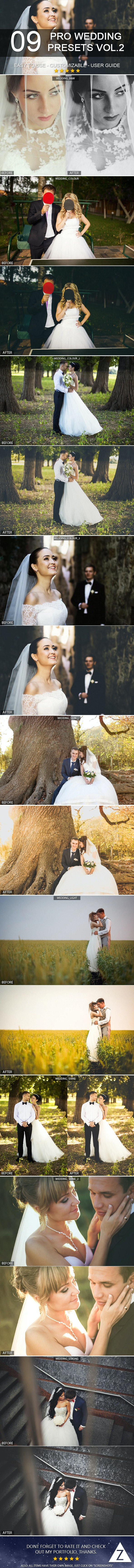 9 Pro Wedding Presets vol.2 - Wedding Lightroom Presets