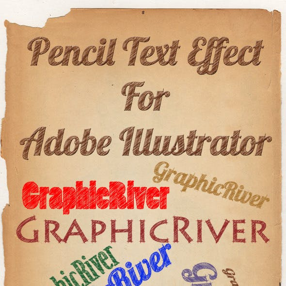 Pencil Text Style