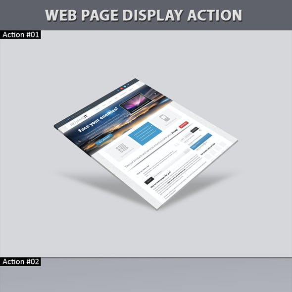 Web Page Display Action