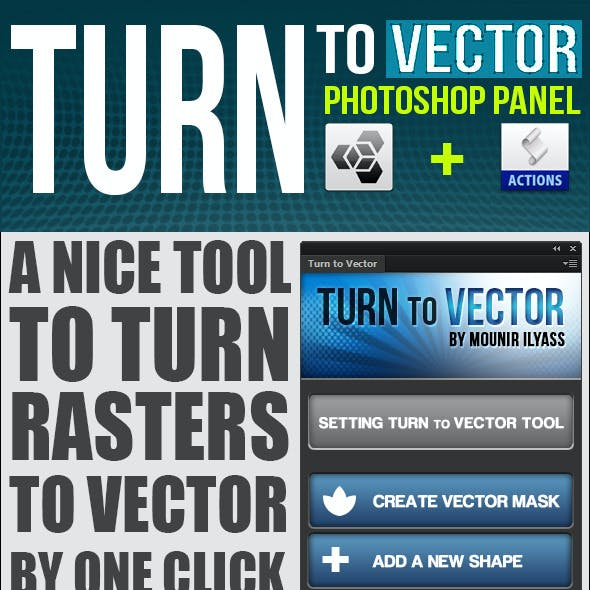 Turn To Vector Photoshop Panel + Actions
