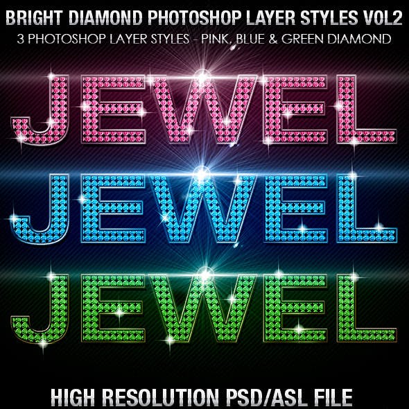 Bright Diamond Photoshop Layer Styles Vol 2