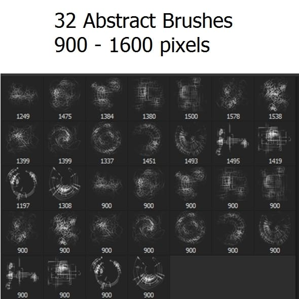 32 Abstract Brushes