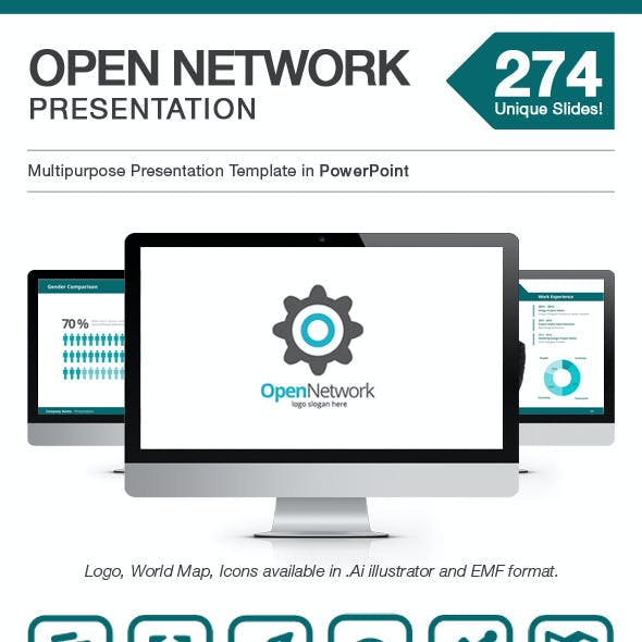 Open Network Presentation - Power Point Template