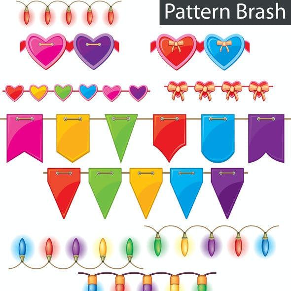 Colored Garland Set