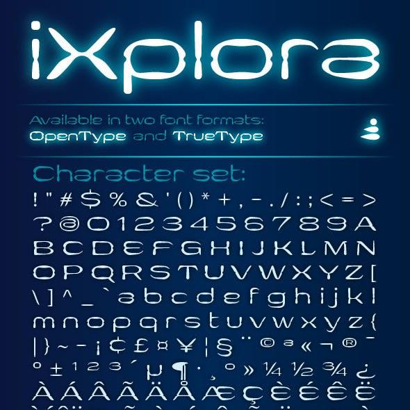iXplora typeface