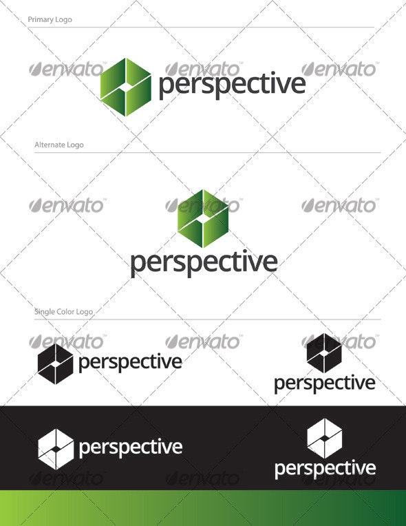 Perspective Logo Design - ABS-005 - Abstract Logo Templates