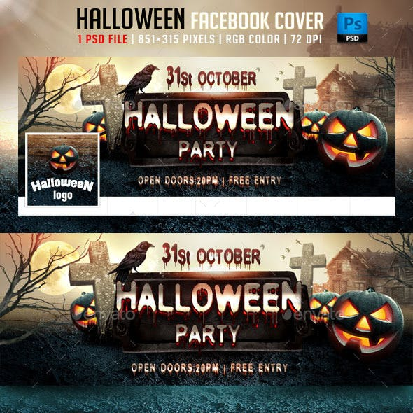 Halloween Party Facebook Cover