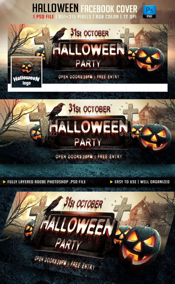 Halloween Party Facebook Cover - Facebook Timeline Covers Social Media