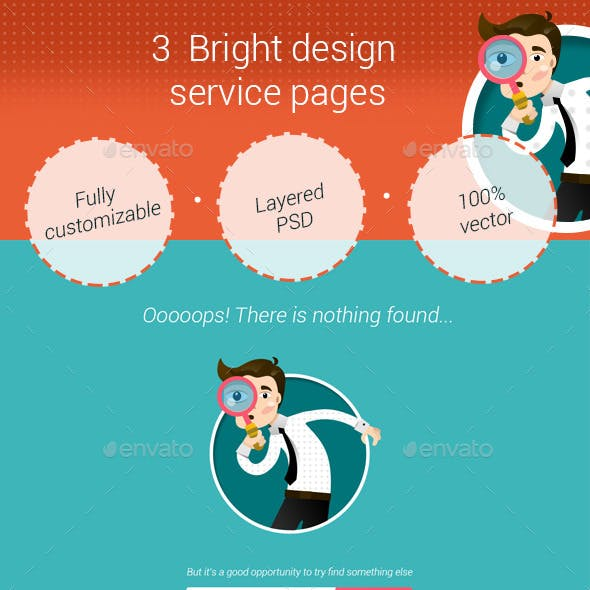 3 Bright Service Pages