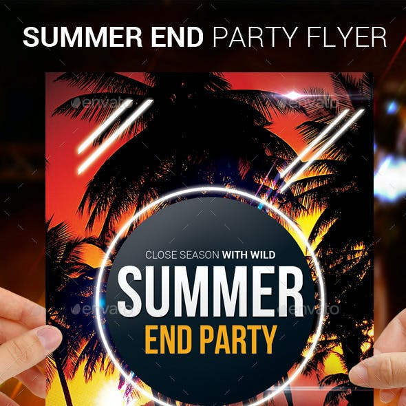 Summer End Party Flyer Template