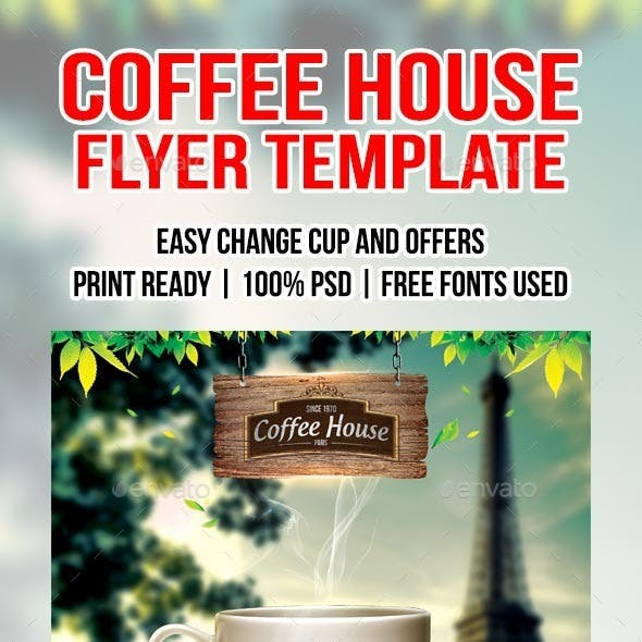Coffee shop flyer