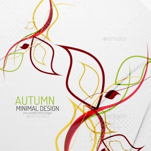 Autumn Floral Minimal Background - Backgrounds Decorative